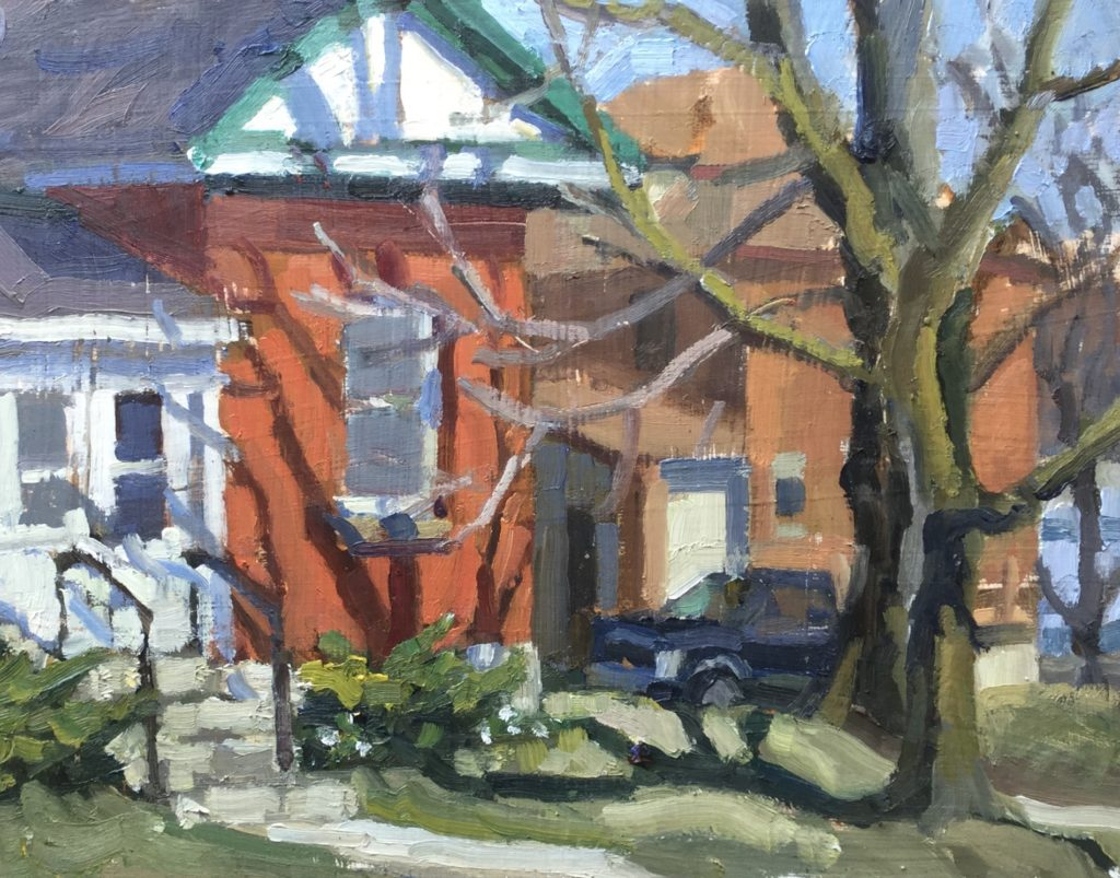 tree, shadow, guelph, cityscape, home, house, street,